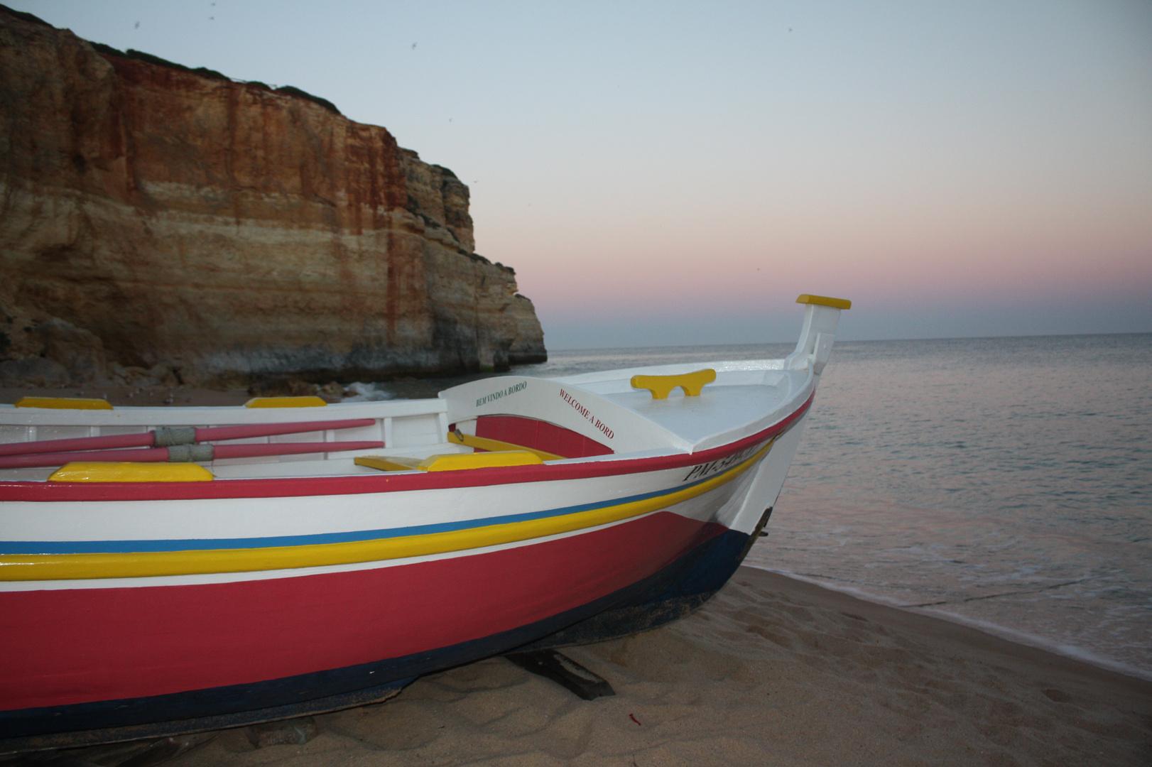 Abendstimmung am Strand Benagil (Portugal)