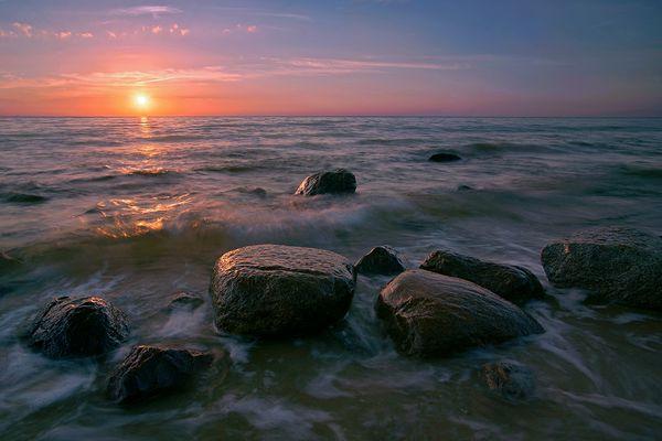 Abendstimmung am Strand in Miedzyzdroje [Misdroy]