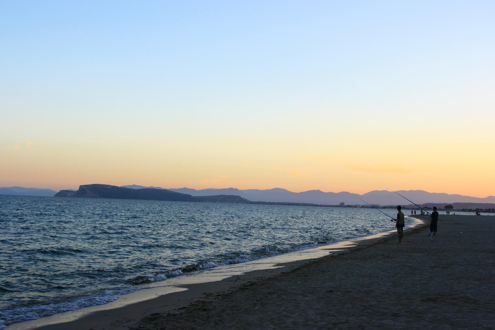 Abendstimmung am Strand in Sardinien