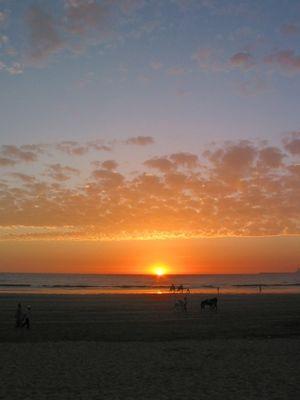Abendstimmung am Strand von Agadir