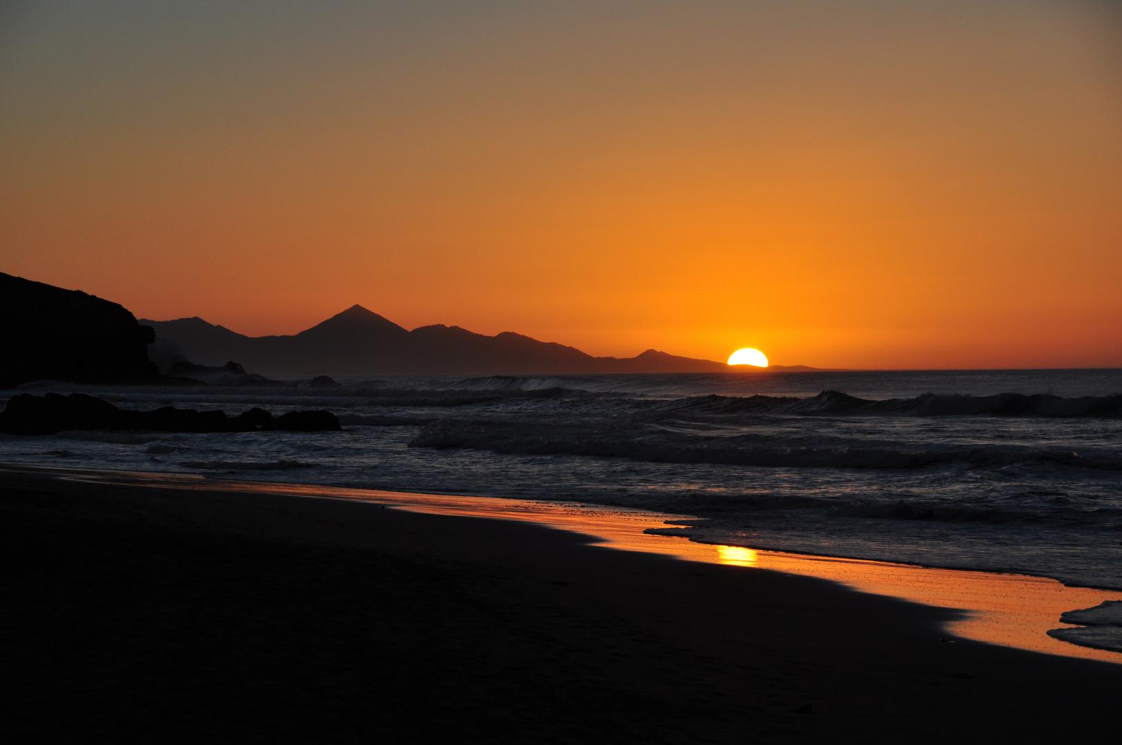 Abendstimmung am Strand von La Pared