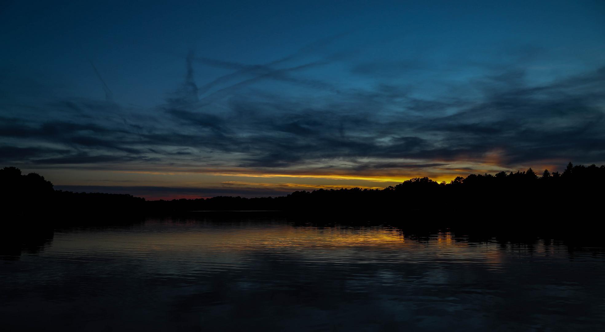 Abendstimmung am Tiefen See in Prieros