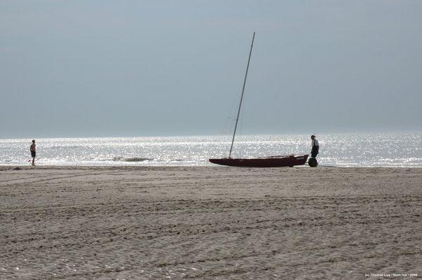 Abendstimmung an der belgischen Nordsee