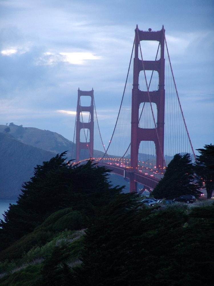 Abendstimmung an der Golden Gate Bridge
