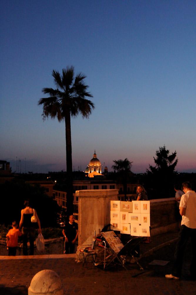 Abendstimmung an der spanischen Treppe