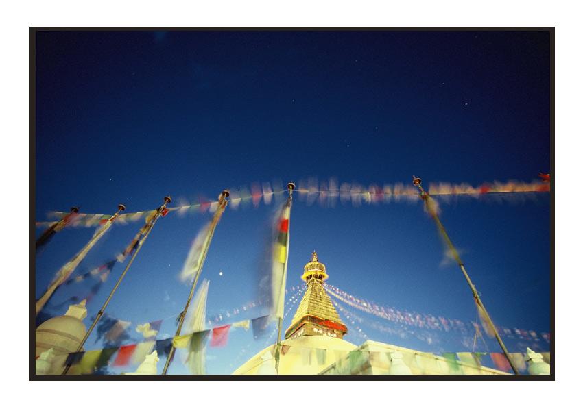 Abendstimmung an der Stupa von Bodnath