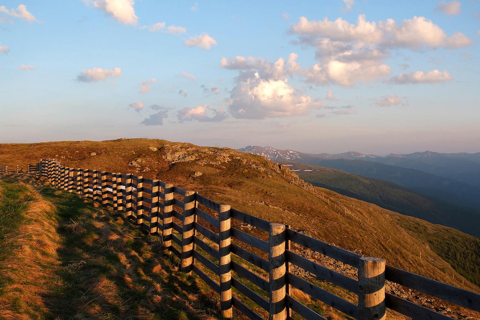 Abendstimmung auf dem Aineck 2220 m / Kärnten Teil 2