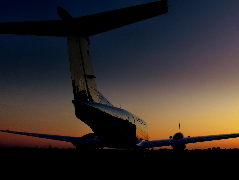 Abendstimmung auf dem Flugplatz