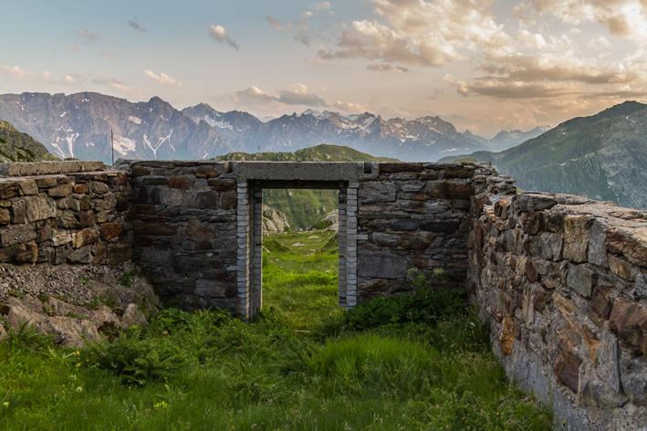 Abendstimmung auf dem Gotthard