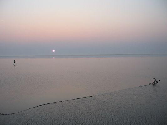 Abendstimmung auf dem Wattenmeer