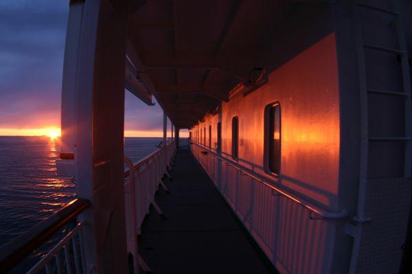 Abendstimmung auf der Hurtigruten