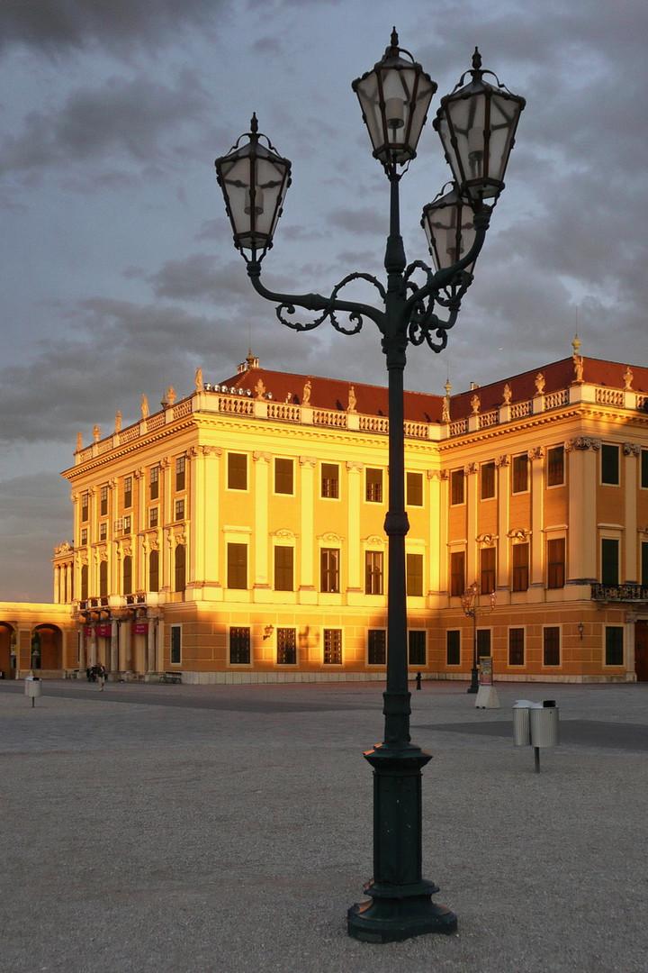 Abendstimmung auf Schloss Schönbrunn