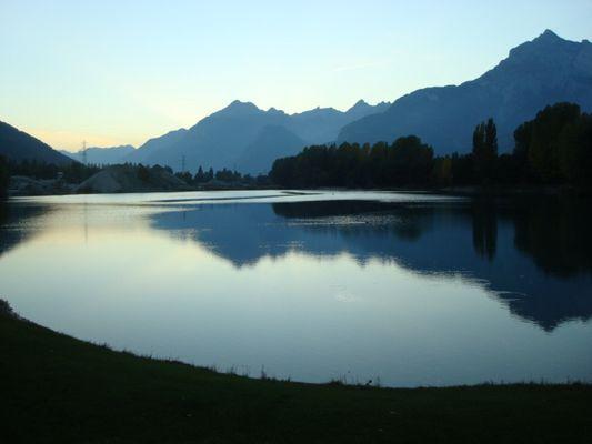 Abendstimmung beim Baggersee