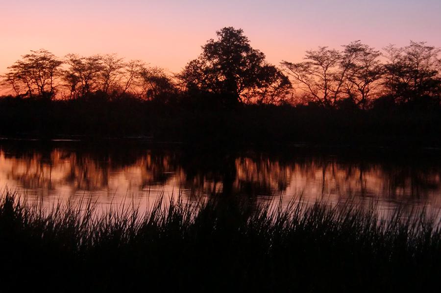 Abendstimmung Chobe River 08.10.2009.jpg