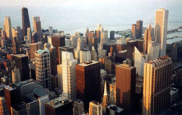 Abendstimmung Downtown Chicago