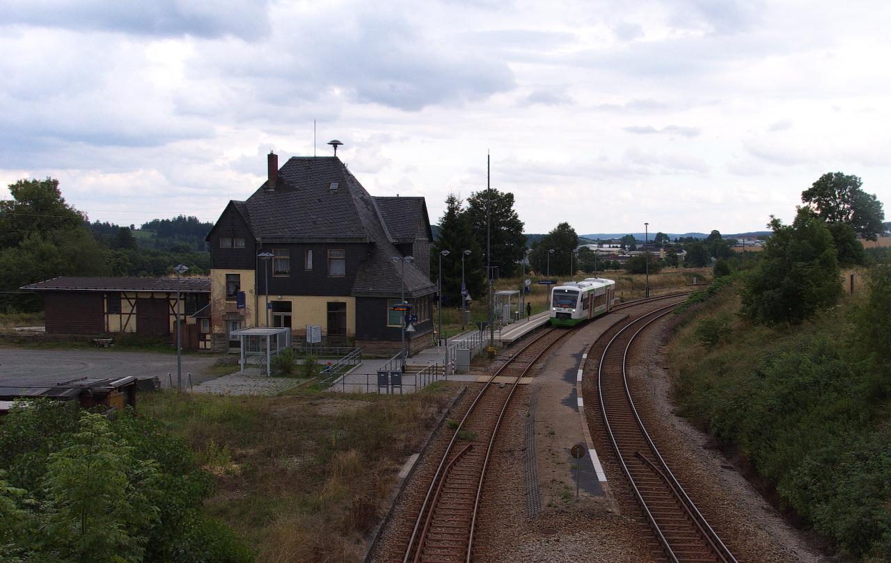 Abendstimmung im Bahnhof Unterlemnitz
