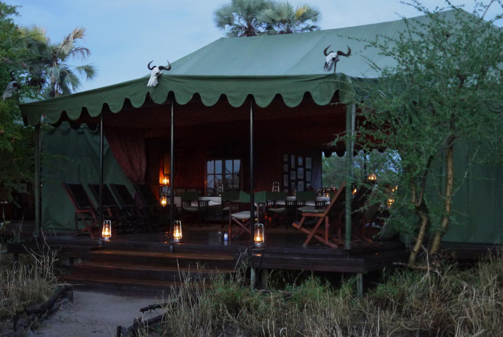 Abendstimmung im Camp