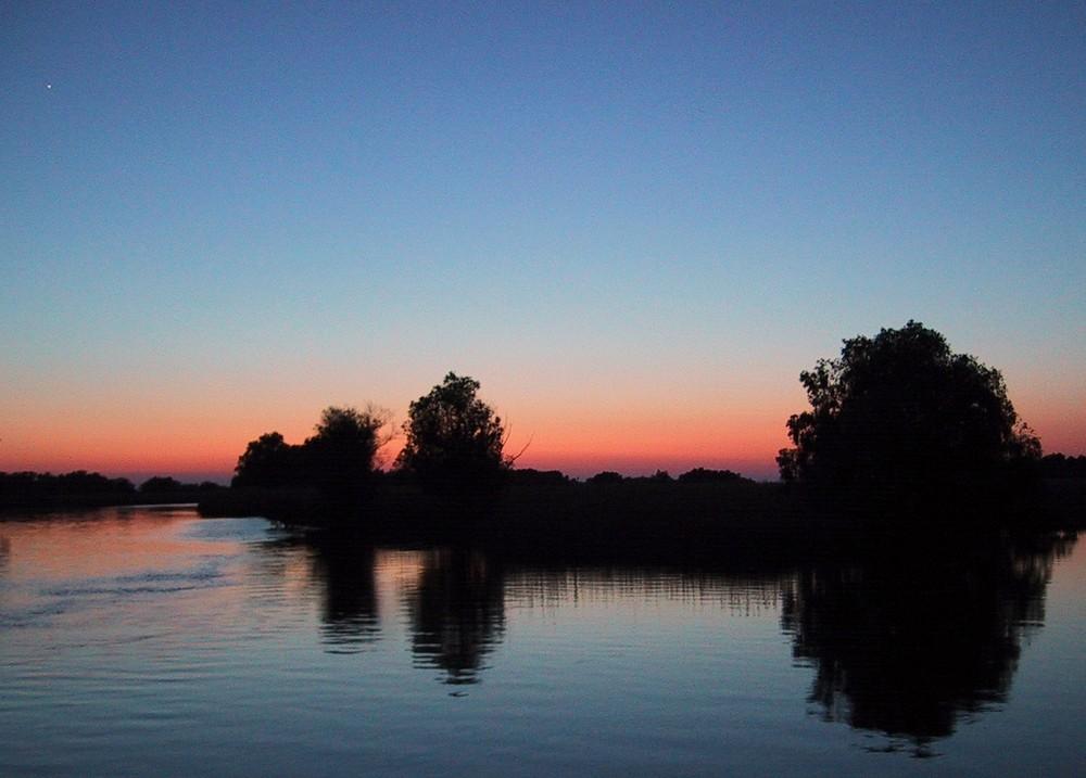 Abendstimmung im Donaudelta