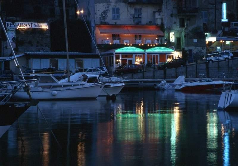 Abendstimmung im Hafen von Bastia (Korsika)