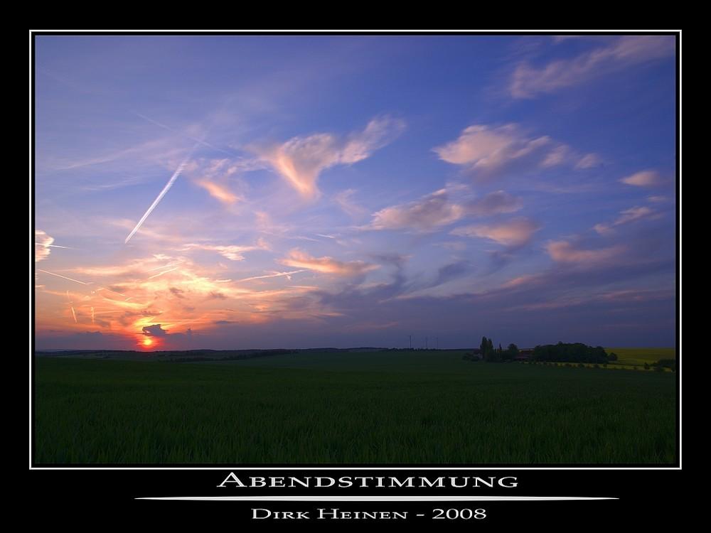Abendstimmung im Landkreis Würzburg
