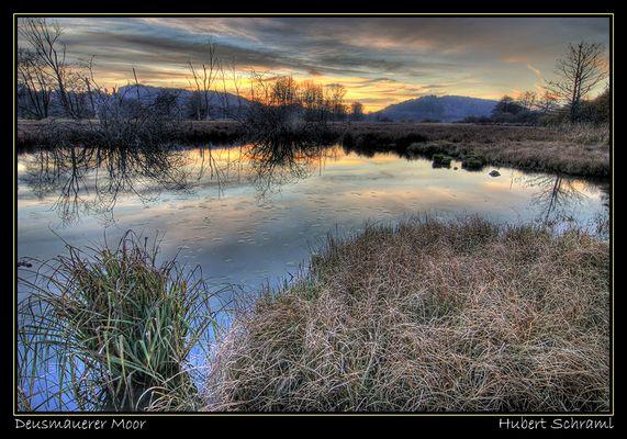 Abendstimmung im Moor (HDR aus 3 Fotos)