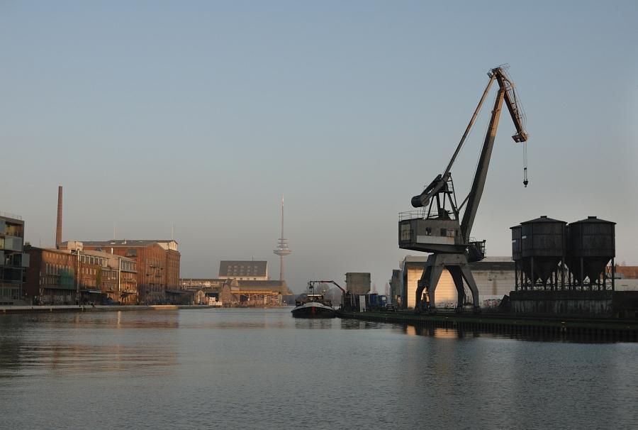 Abendstimmung im Münsteraner Hafen