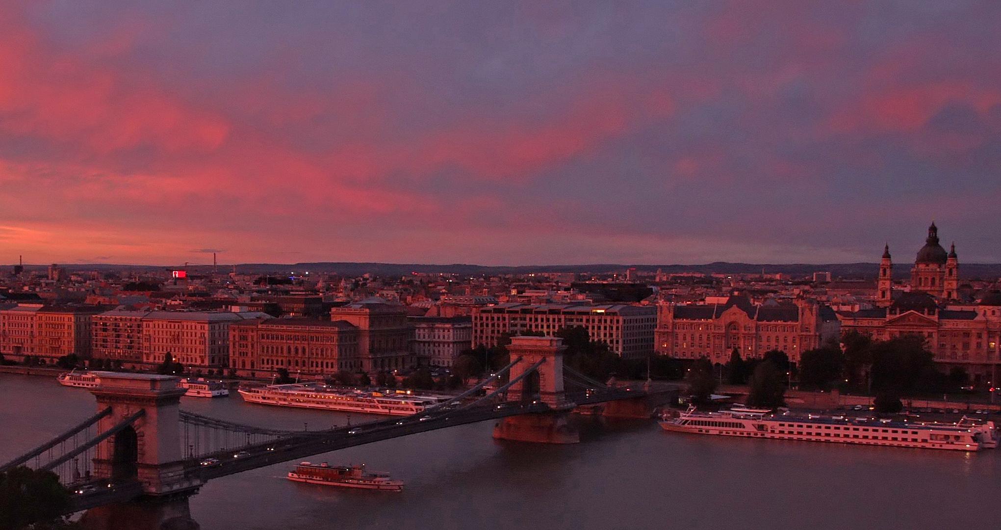 Abendstimmung in Budapest 2