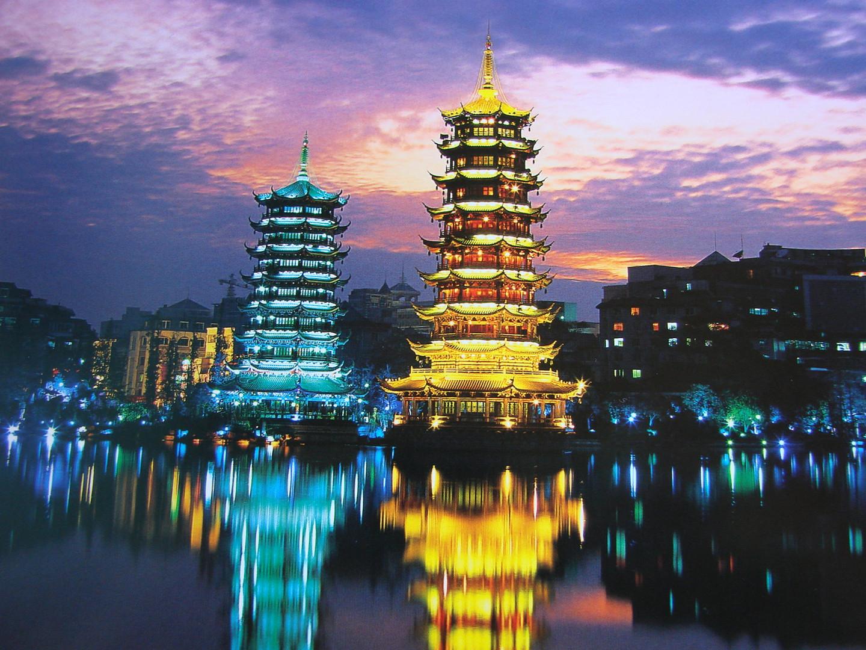 Abendstimmung in China