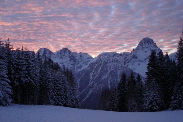 Abendstimmung in den Alpen
