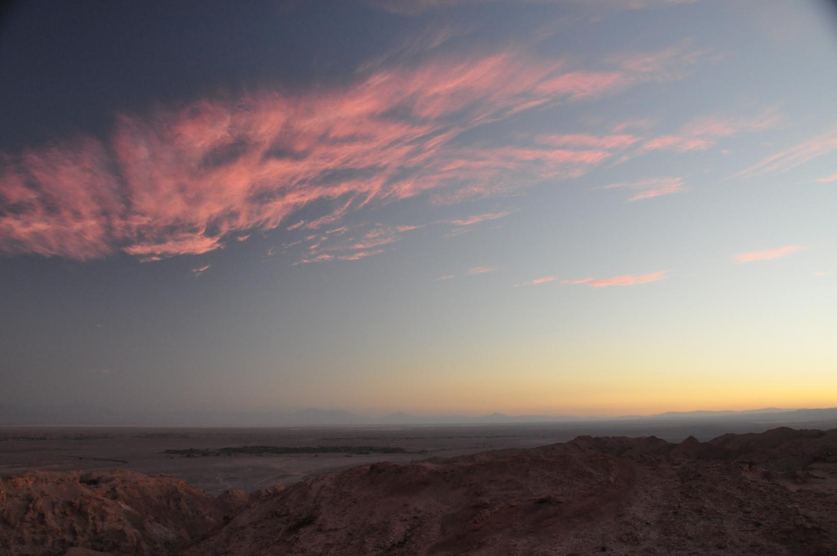 Abendstimmung in der Atacama Wüste