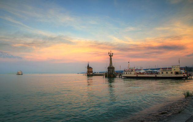 Abendstimmung in der Konstanzer Bucht