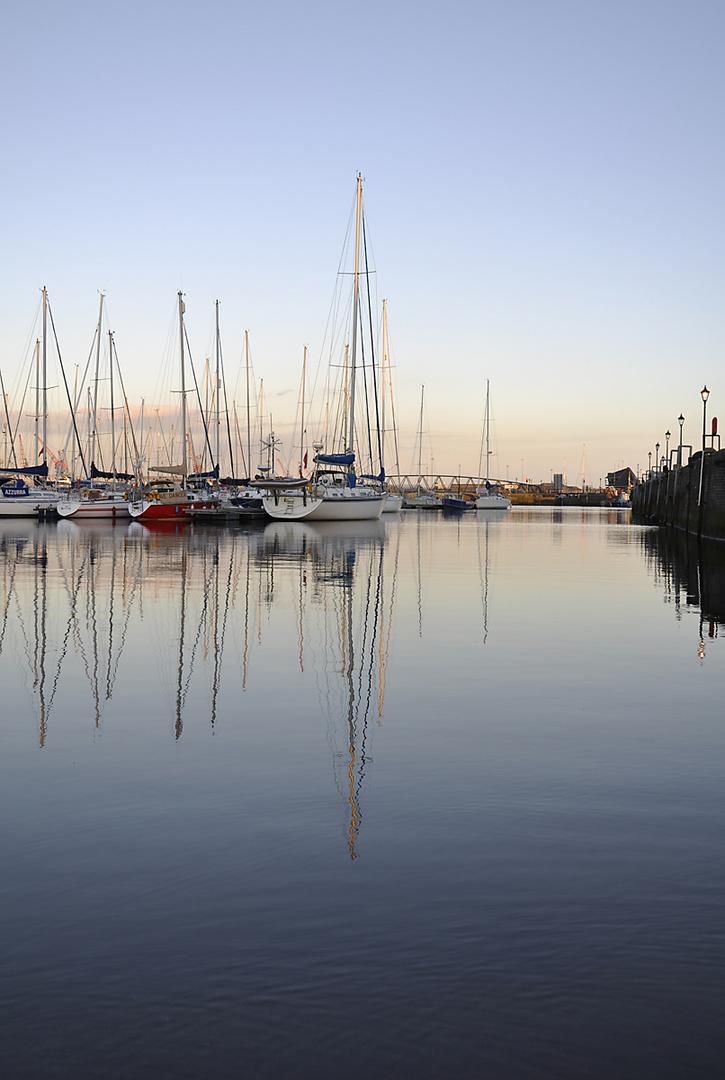 Abendstimmung in der Swansea Marina
