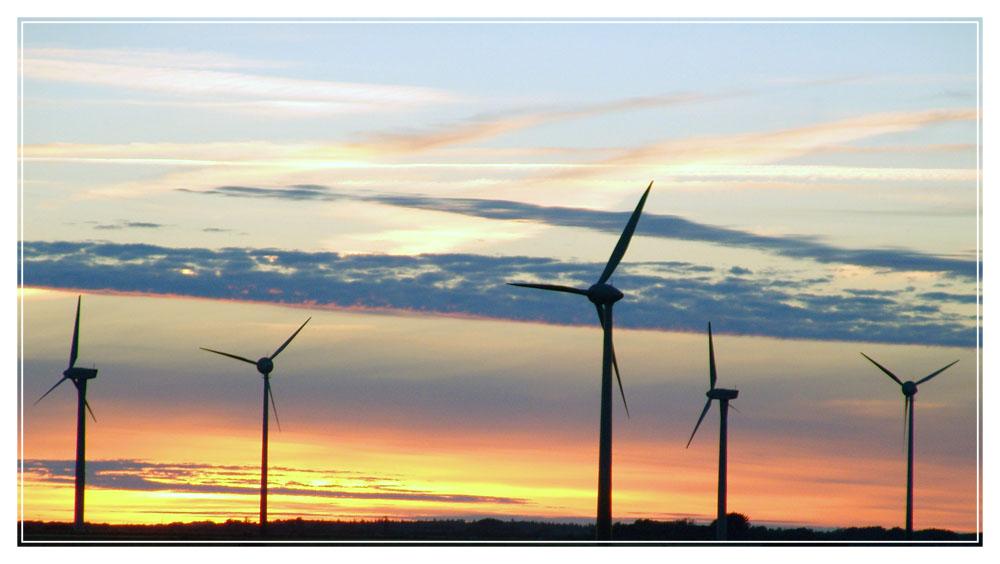 Abendstimmung in der Windkraft