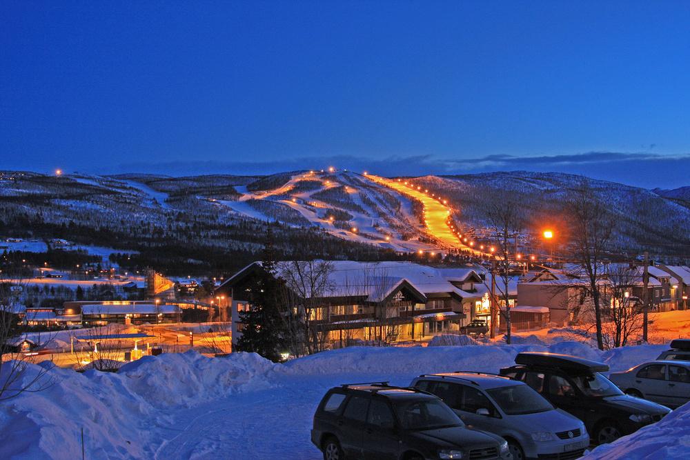 Abendstimmung in Geilo/Norwegen
