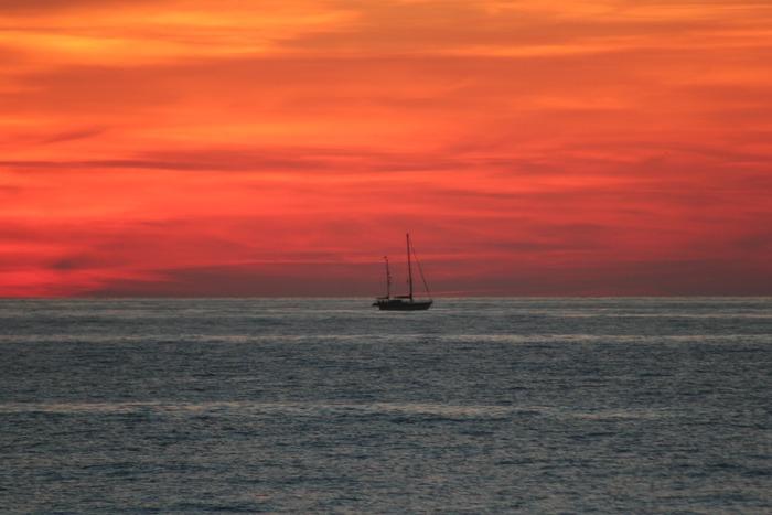 Abendstimmung in Ile Rousse, Korsika