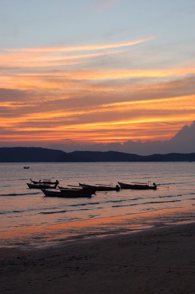 Abendstimmung in Krabi (Thailand)