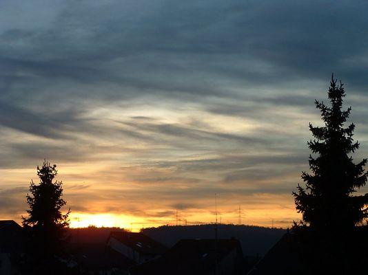 Abendstimmung in Leonberg