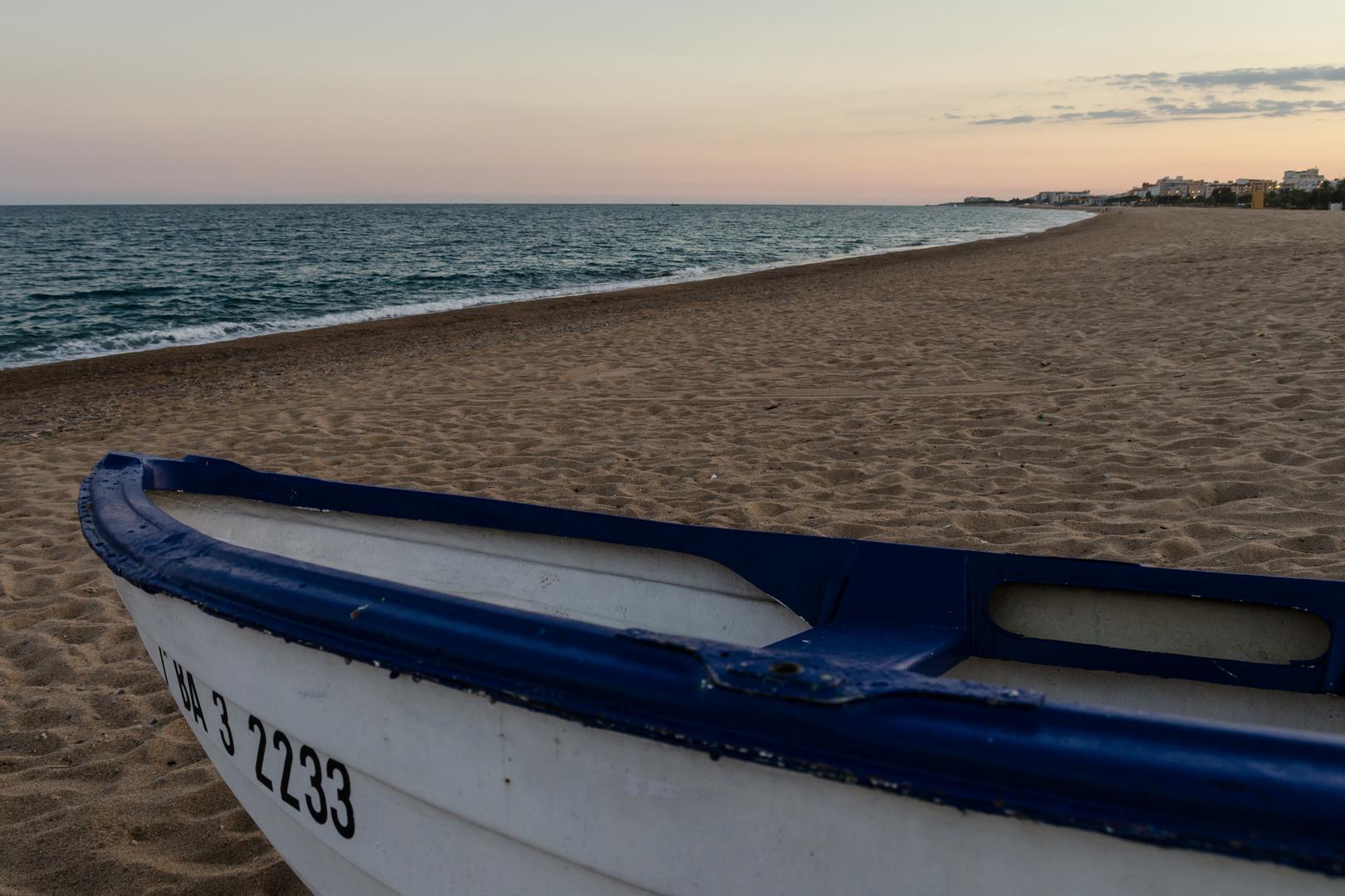 Abendstimmung in Malgrat de Mar