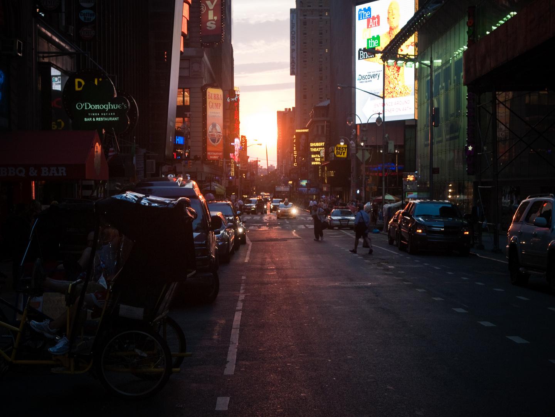 Abendstimmung in New York