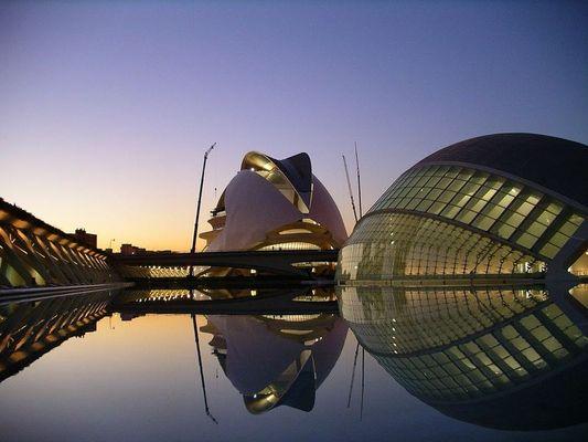 Abendstimmung in Valencia