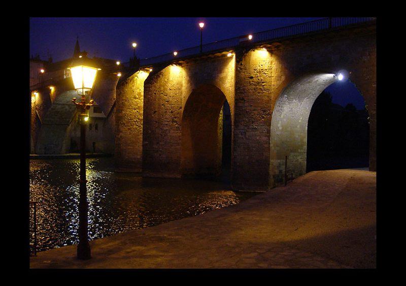 Abendstimmung in Villeneuve sur Lot