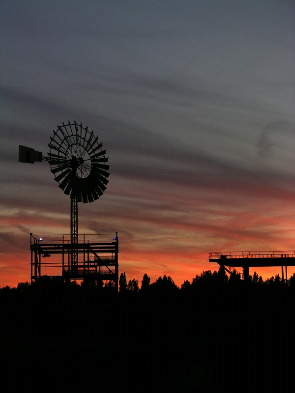 Abendstimmung Landschaftspark Nord