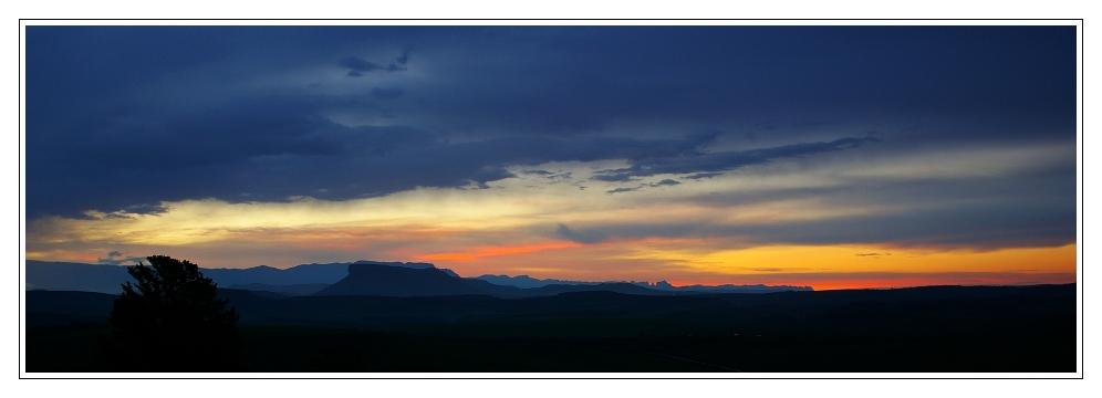 Abendstimmung nahe der Drakensberge