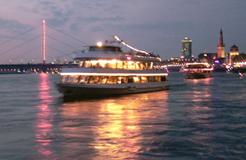 Abendstimmung Rheinufer Düsseldorf