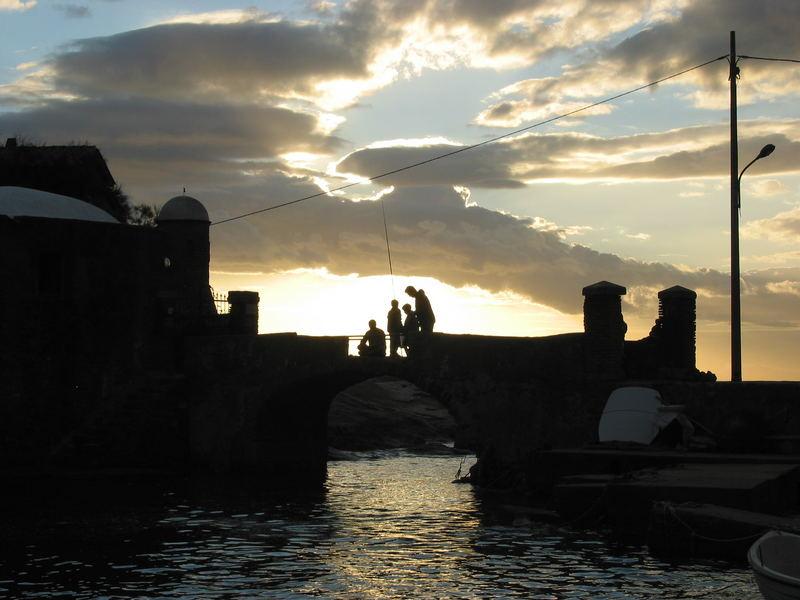 Abendstimmung über der Brücke von Campese/Giglio