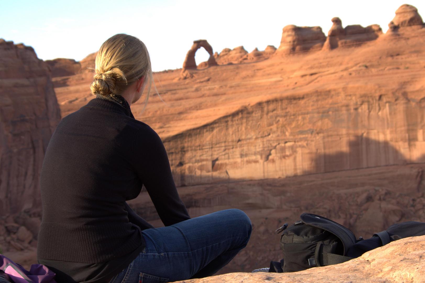 Abendstimmung unterm Delicate Arch - Utah, USA