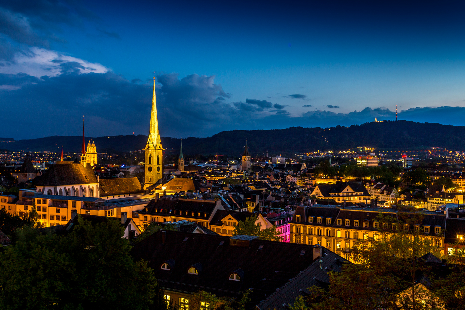 Abendstimmung Zürich