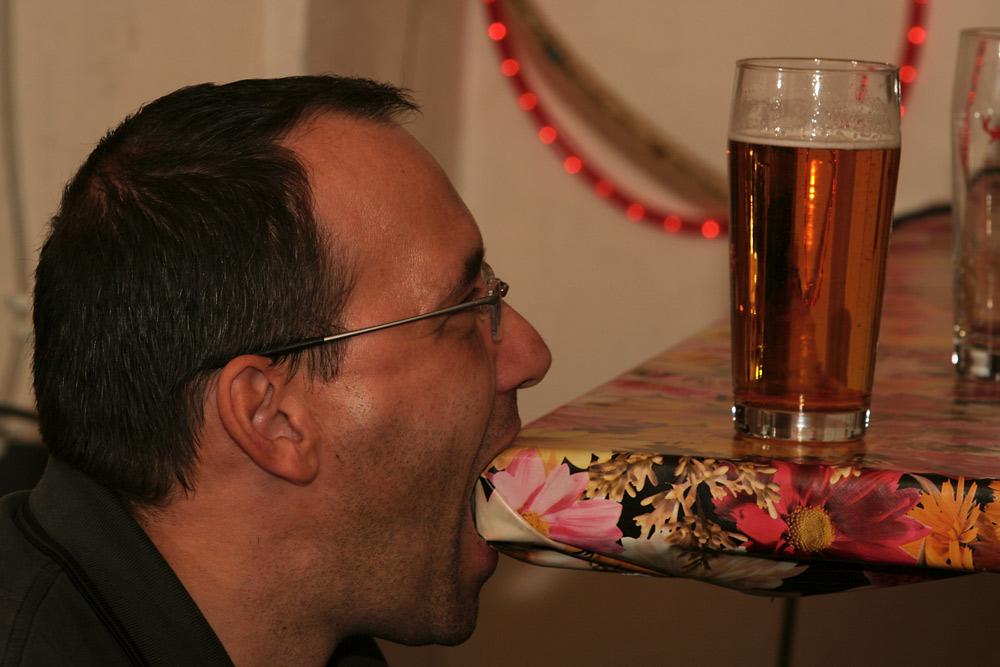Aber Oli, das Bier steht doch vor dir