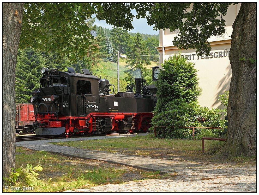 Abfahrbereit im Bahnhof Oberrittersgrün