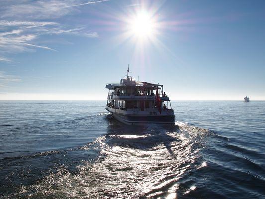 Abfahrt eines Bodenseeschiffes